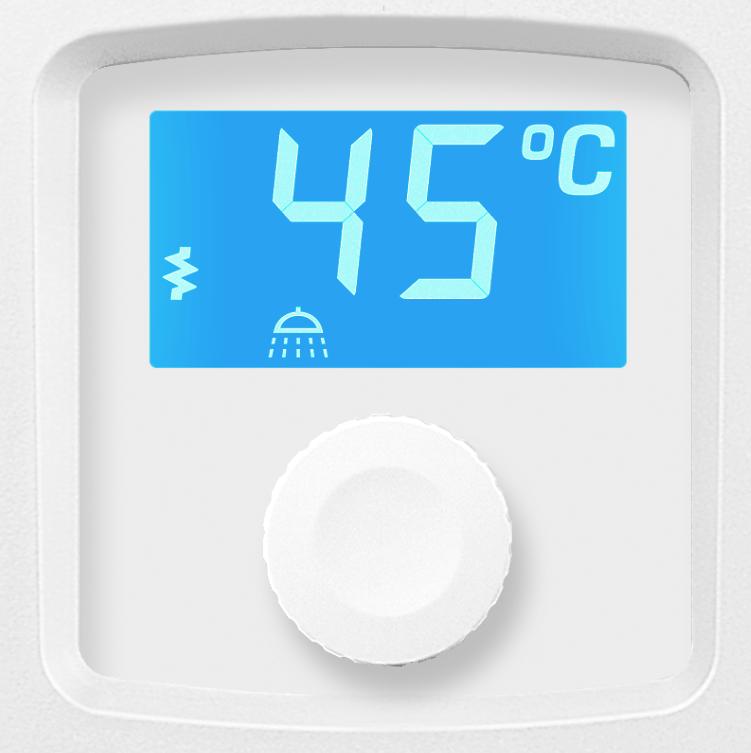 wyświetlacz LCD podgrzewacza elektrycznego wody